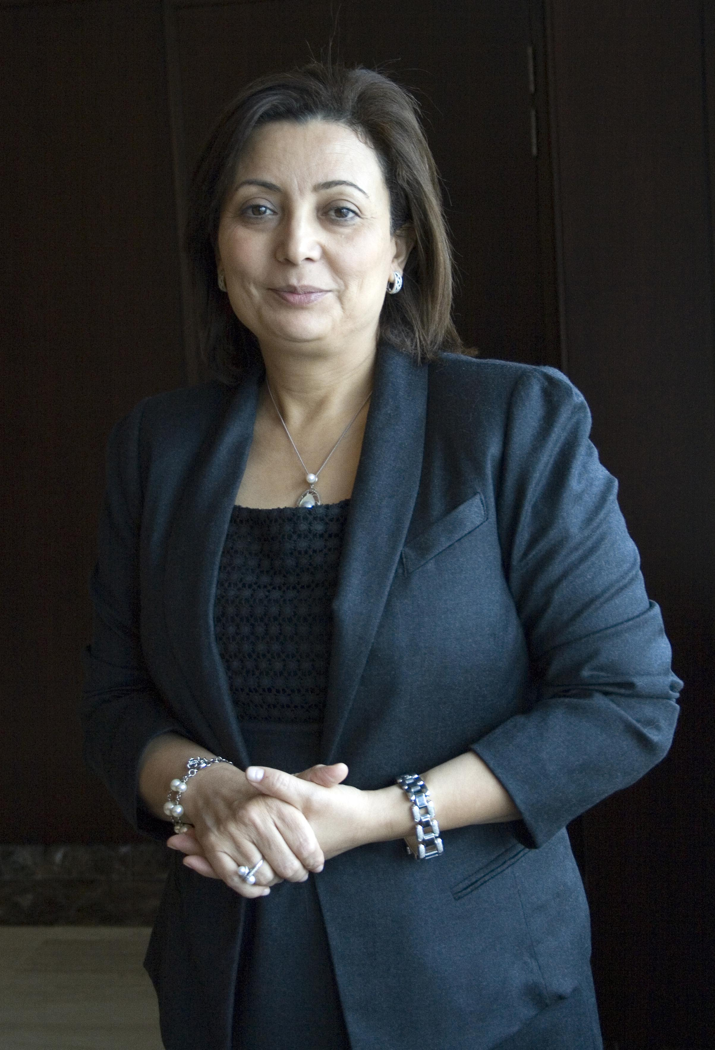 Wided Bouchamaoui is leader of the Tunisian Confederation of Industry, Trade and Handicrafts (UTICA).