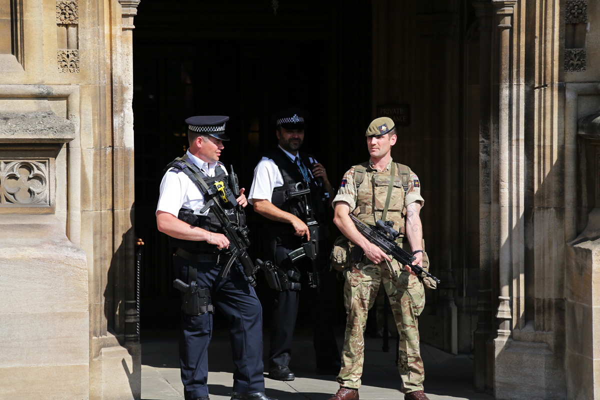 Soldiers and extra police were deployed around Manchester in response to the bombing.