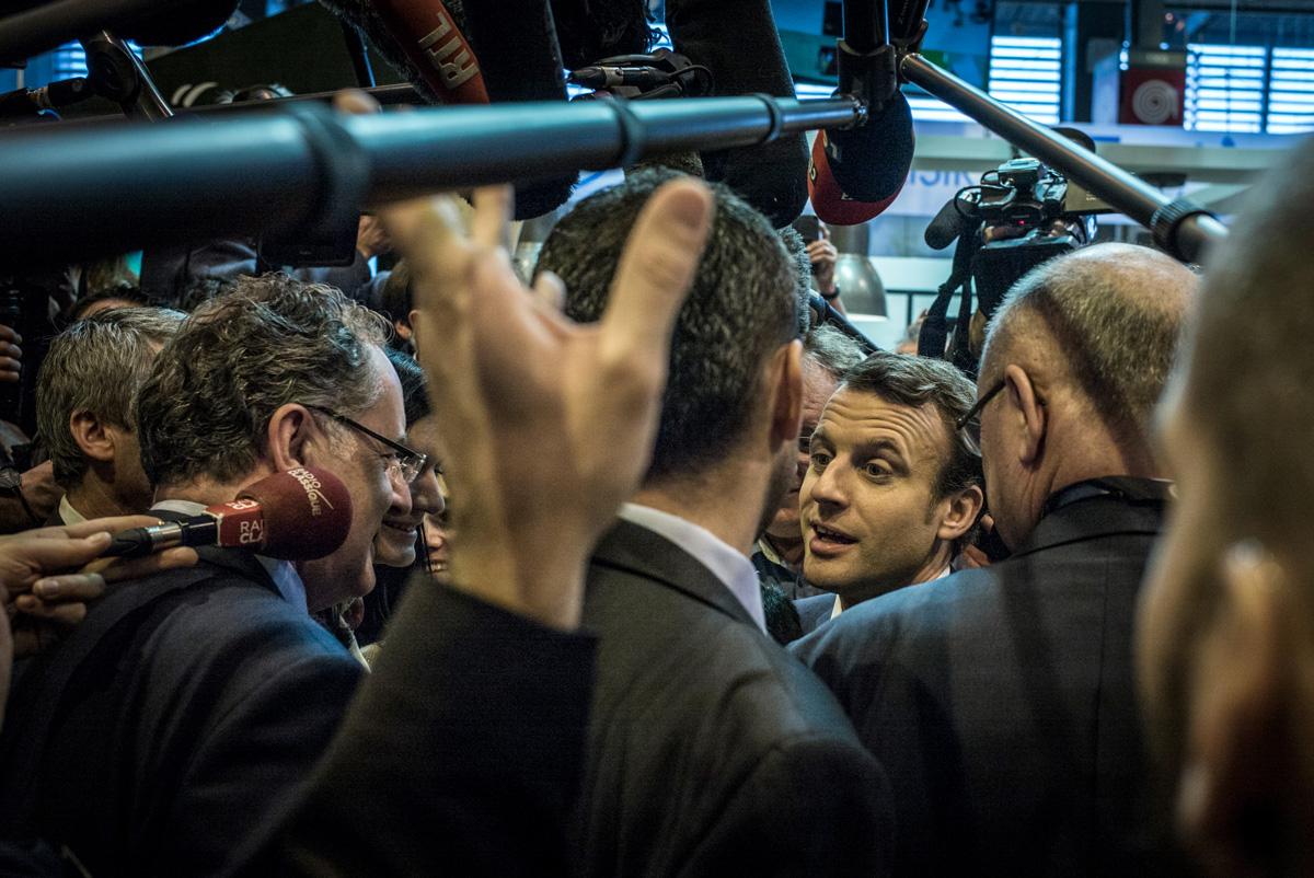 Emmanuel Macron at the Salon de l'agriculture in Paris in 2017.