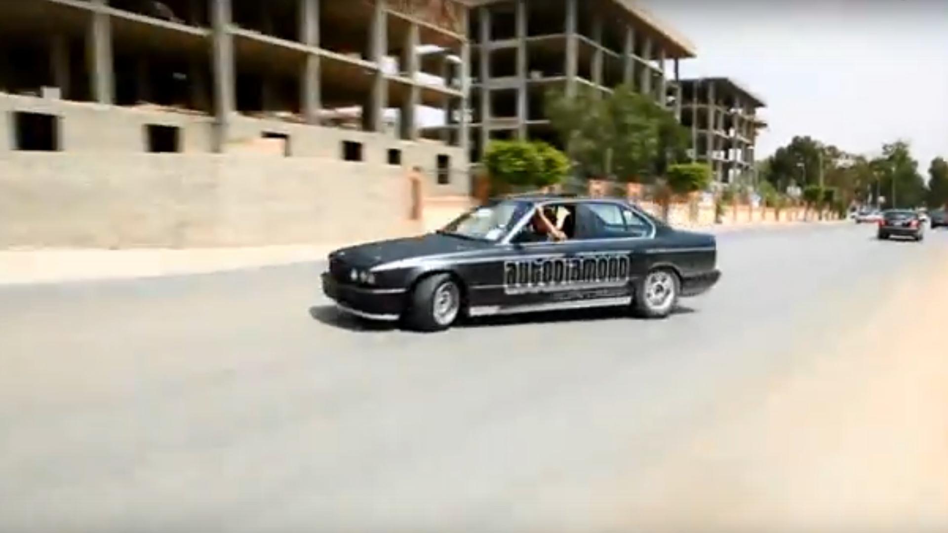 A drift race in Benghazi.